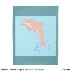 Peaches the Pink Dolphin Duvet Cover - home decor design art diy cyo custom Sketch Design, Design Art, Pottery Barn Teen Bedding, Pink Dolphin, Bed Duvet Covers, Headboards For Beds, Pink Gifts, Diy Stuffed Animals, Linen Bedding
