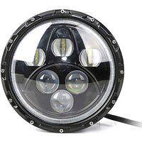 Cheap Jeep Wrangler LED Headlight w/ Halo Ring 7 Inch 7