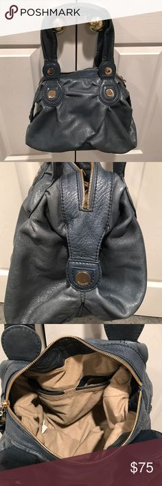 Gusto hobo bag. Beautiful deep teal soft leather hobo bag. Gently used. Gusto Bags Shoulder Bags