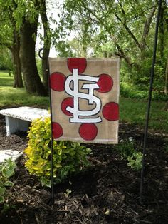 St. Louis Cardinals Burlap Garden Flag on Etsy, $18.00