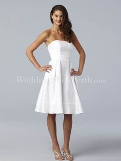 Cute dress for the bride to wear to her shower!