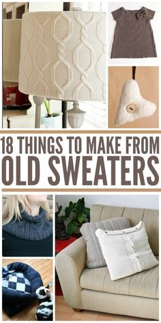 Repurposed Items: 18 Things You Can Make From Old Sweaters More