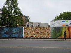 ArtBridge transforms CAMBA's construction fence into an outdoor art gallery.