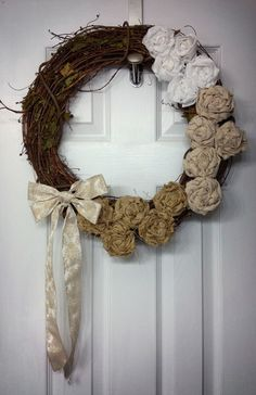 DIY fall rosette wreaths - step by step instructions