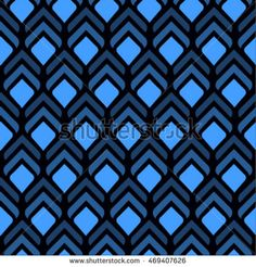 Seamless vector pattern with geometric image of feathers. Pattern in the boho…