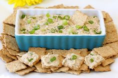Multi-Grain Crackers with White Bean Spread