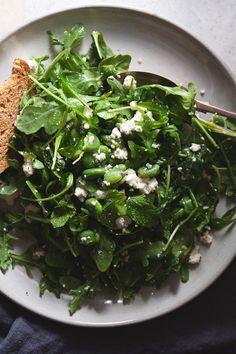 Fava Bean Salad with Mint & Ricotta | The Tart Tart