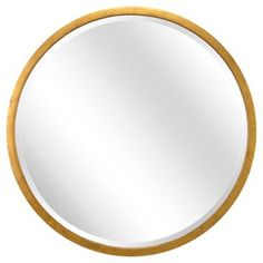 Check out this item at One Kings Lane! Round Wall Mirror, Gold