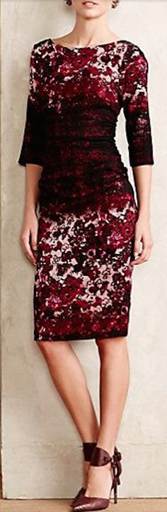 love this holiday burgundy dress #anthrofave http://rstyle.me/n/tg2zsr9te