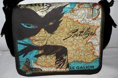Laptop Bag  PARIS EYES  Messenger Bag  Fits 13 To by floorartetc, $75.00