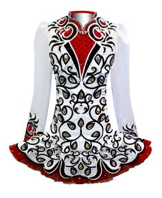 Elevation Design Irish Dance Solo Dress Costume, great overall design, especially the flow to the skirt.