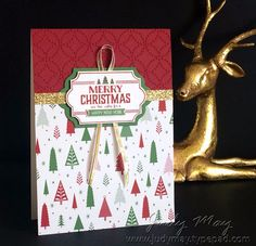 Stampin' Up! Labels to Love & Be Merry DSP - Judy May, Just Judy Designs