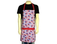 American Flag Apron and State Names  Red White and by ElsiesFlat (Home & Living, Kitchen & Dining, Linens, Aprons, patriotic, july 4th, american flags, red white and blue, kitchen apron, retro apron, cooking apron, kitchen decor, grilling apron, plus size apron, aprons for men, patriotic decor, american flag apron)
