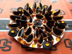 Oregon State Beaver jello shooters!!... my boss made these! Isn't she talented!?