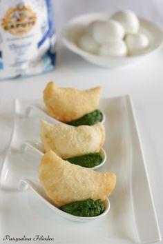 Mezzelune alla mozzarella su wasabi di friarielli - Pasqualina in Cucina !