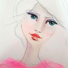 Pastels and color pencils #artjournal #prismacolorpastels  #fabriano #strathmore #prismacolorpencils  #beautifulfaces  #art #sketch #sketchbook #illustration  #artstudio #mixedmedia #janedavenportinspiresme #draw #glamourmagazine #art #fashionillustration