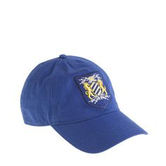 Cotton twill embroidered crest baseball cap - baseball caps- Women's accessories - J.Crew