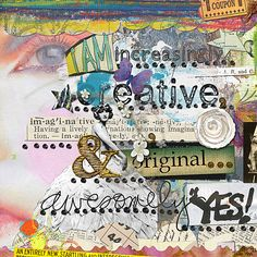 Creativity Art Journaling Page by julie ann shahin