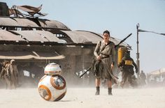 Rey and BB-8.
