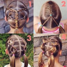 Baby Girl Hairstyles For Short Hair Quick Braided Hairstyles, Cute Hairstyles For Kids, Oval Face Hairstyles, Baby Girl Hairstyles, Princess Hairstyles, Trendy Hairstyles, Braid Hairstyles, Hairstyle Photos, Birthday Hairstyles