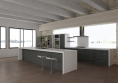 Yellowstone flat, kitchen, virtual image, rendered with DomuS3D® and mental ray