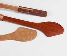 This multi-use wood kitchen utensil can be used for stirring sautes or roux or flipping fried fish in your skillet. It can be used as a spatula or