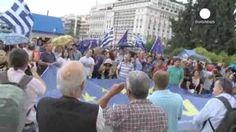 La oposición griega se manifiesta masivamente a favor del Si en el referéndum
