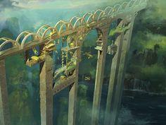 Village of the Bridge by angrymikko.deviantart.com on @DeviantArt