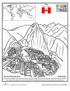 Check Out This Cool Machu Picchu Coloring Page For Your Little World Traveler