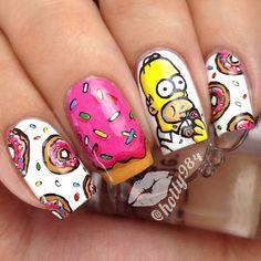Instagram media by hollynailsit - Homer Simpson #nail #nails #nailart