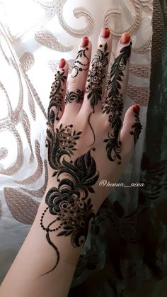 Modern Henna Designs, Latest Henna Designs, Henna Tattoo Designs Simple, Floral Henna Designs, Finger Henna Designs, Henna Art Designs, Mehndi Designs 2018, Mehndi Designs For Beginners, Mehndi Design Pictures
