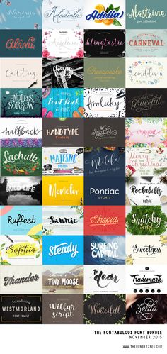 We would like to introduce Fontabulous!! Our biggest EVER font bundle!! Including a whopping great 76fonts for just $29.00. That is just over 30 cents per font! As always all products come with commercial licenses and free support. Don't miss our super massive, gigantic fonts sale before it expires on December 1st. Enjoy!!