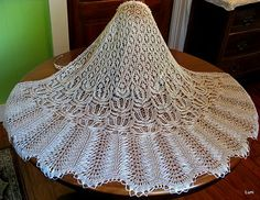 Knit wedding veil