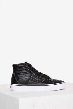 Vans Sk8-Hi Leather High-Top Sneaker - Black | Shop Shoes at Nasty Gal!