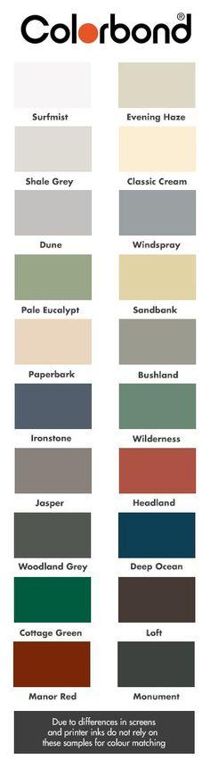 Best Ironstone Colourbond Колір Pinterest Exterior Colors 640 x 480