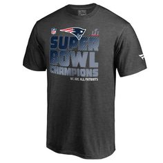 9dcc7a2880b Men s New England Patriots NFL Pro Line by Fanatics Branded Charcoal Super  Bowl LI Champions Trophy Collection Locker Room T-Shirt