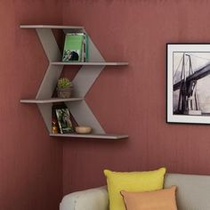 Astounding 8 Unique DIY Wall Shelves Design Ideas For Stunning Home Interior Decoration DIY wall rack design ideas in the living room can certainly change the style of interior design to be more modern. The DIY decoration on this wall is . Corner Shelf Design, Diy Corner Shelf, Small Wall Shelf, Unique Wall Shelves, Floating Corner Shelves, Corner Wall Shelves, Wall Shelves Design, Floating Wall, Wall Bookshelves
