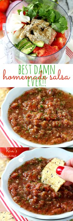 The best damn salsa ever is bright, fresh and absolutely irresistible- loaded with delicious, vibrant flavor and comes together in less than 5 minutes.