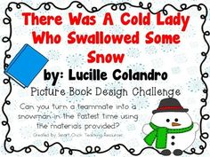 Can you turn a teammate into a snowman in the fastest time?  A great winter STEM challenge! $