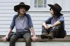 chandler riggs the walking dead - Behind the scenes photos from #TheWalkingDead 2014