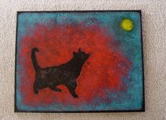 Painting for Black Cat Rescue - SOLD Thank you Daren   painted 2012 16 x 20 SOLD