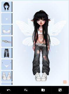 Virtual Girl, Virtual Fashion, Fashion Art, Girl Fashion, Fashion Design, Girl Cartoon Characters, Psychedelic Drawings, Hippie Art, Cybergoth
