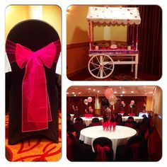 #nicheevents #picoftheday #hiltonhotel #hiltonswindon #swindon #chaircovers #blackchaircovers #hotpinksashes #candycart #sweets #balloons #birthdayballoons #celebrations #eventplanner #eventstylist #sweet16