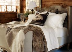"Ralph Lauren Home Archives, ""Alpine Lodge"" Bedroom, 2012; ""Inspired by the international glamour of a beautifully appointed ski chalet."""