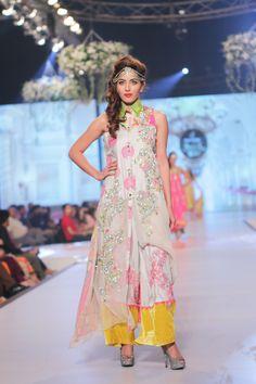 Fashion: Somal Halepoto Ronak Collection at Pantene Bridal Couture Week 2014 Pakistani Dresses, Vibrant Colors, Colours, Indian Fashion, Desi, Summer Dresses, Bridal, Couture Week, Clothes