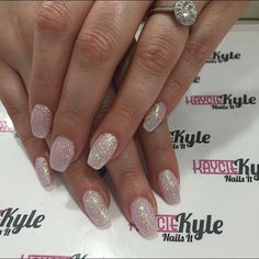 Sparkly coffin nails! Love!!!