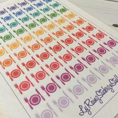 Meal Planning stickers for Passion Planner, Happy Planner, Erin Condren, Filofax, Bujo, Kikkik...etc by LyRainzStickrzNStuff on Etsy
