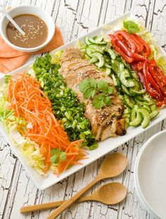 Gluten Free Asian Cobb Salad Recipe - To make low carb use Nature's Hollow Sugar Free Honey Substitute instead of honey