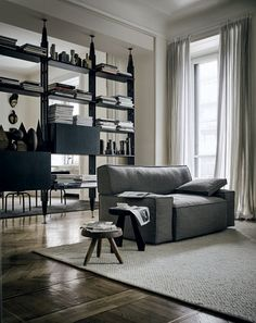 Room divider MyWorld by Philippe Starck for Cassina in technology home furnishings Category Sofa Design, Canapé Design, Furniture Design, House Design, Design Ideas, Design Hotel, Philippe Starck, Modular Furniture, Modern Furniture