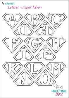 Great Superman Alphabet Template Photos >> Superman Alphabet Letters ...